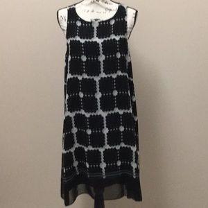 Max Studio black and white chiffon swing dress